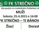 FK Strečno pozvánka na zápas