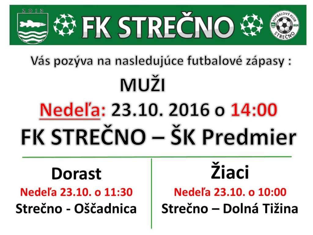 Pozvanka na zápas 23.10. 2016 pptx